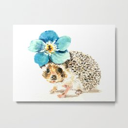 When life gets a little prickly, put a flower on it Metal Print