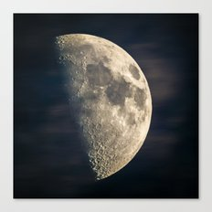 half moon Canvas Print