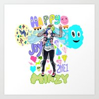 2ne1 Art Prints featuring 2NE1 Happy: Minzy by Haneul Home
