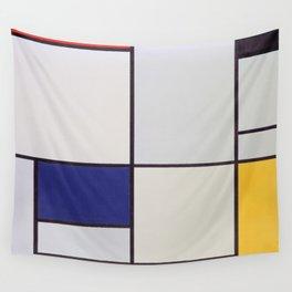 Piet Mondrian - Tableau I Wall Tapestry