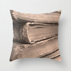 Stacks of Stories  Throw Pillow