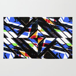 Multicolor Geometric Abstract Pattern Rug