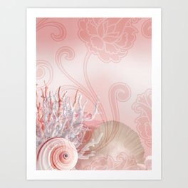 SEASHELL DREAMS | pink Art Print