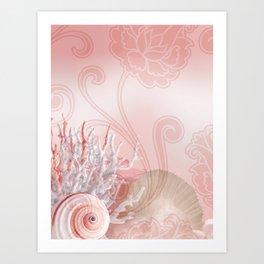 SEASHELL DREAMS | pink Art Print