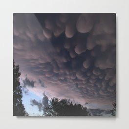Wicked Mammatus Storm Clouds Metal Print