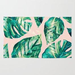 Leaf watercolor pastel Rug