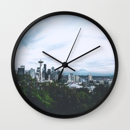 Seattle afternoon views Wall Clock