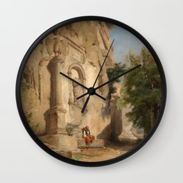 Jules Laurens - Head of a Roman Way in Bithynia, Amasra Wall Clock