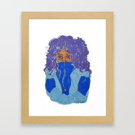 Purple Curls Framed Art Print
