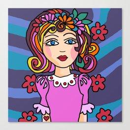 Style Girl - No7 - Doodle Art Canvas Print