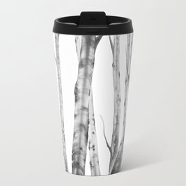 Birch Tree Watercolour Painting black-and-white | Black and White | Minimalism Travel Mug