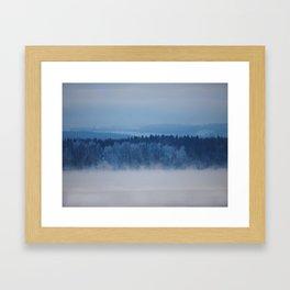 Freezing lake Framed Art Print