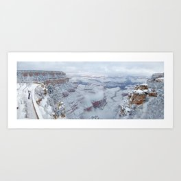 Winter and Snow at the Grand Canyon Art Print