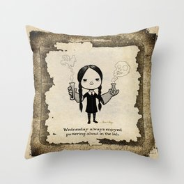 In the Laboratory Throw Pillow