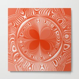 Terracotta Tile Metal Print