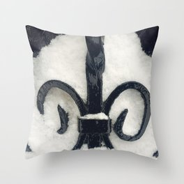 Snowy Iron Throw Pillow
