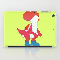 yoshi iPad Cases featuring Yoshi Red by bloozen