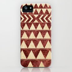 Vintage Material Triangles iPhone (5, 5s) Slim Case
