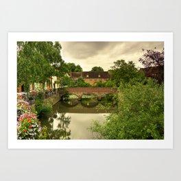 Abingdon Bridge reflects Art Print