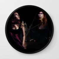 bed Wall Clocks featuring Bed by Annamaria Kowalsky