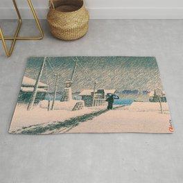 SNOW TSUKISHIMA - Kawase Hasui Rug