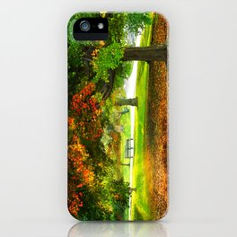 Changing colors of fall. iPhone Case