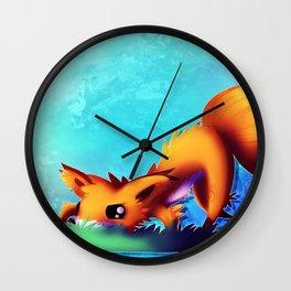 Prowling Fox Wall Clock