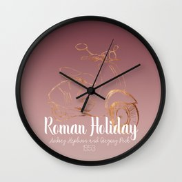 Roman holiday - Audrey Hepburn and Gregory Peck tribute to Wall Clock