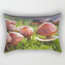 Macro Fungi - Nature Photography Rectangular Pillow