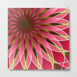 Pretty in pink mandala Metal Print