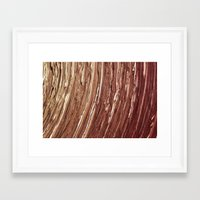 tree rings Framed Art Prints featuring Rings by Kathy Dewar