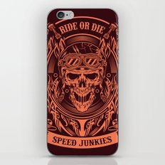 Skull Ride Motor Club Illustration iPhone & iPod Skin