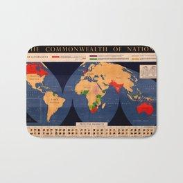 Map Of The British Commonwealth 1950 Bath Mat