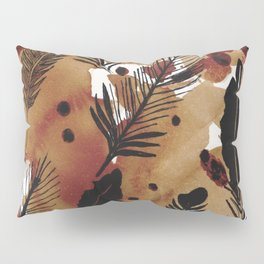 Ink Feathers and Tea Pillow Sham