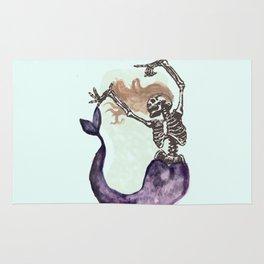 Skull Mermaid Rug
