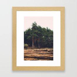 Sad timber industry Framed Art Print