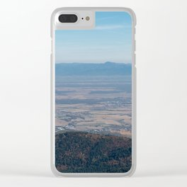 View at the mountains Clear iPhone Case