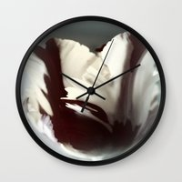 tulip Wall Clocks featuring Tulip by KunstFabrik_StaticMovement Manu Jobst