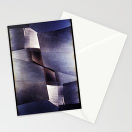 disney concert hall 2 (35mm multi exposure) Stationery Cards