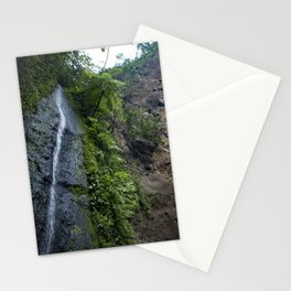 Thin Waterfall Cascading in the Rainforest of the Chocoyero-El Brujo Nature Reserve in Nicaragua Stationery Cards