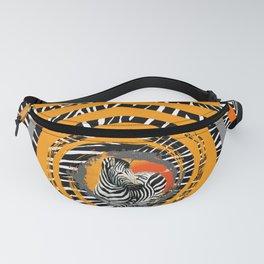 Zebra Tribal Sunset Fanny Pack