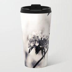 Black and White Flowers Travel Mug