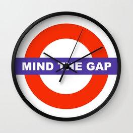 Mind The Gap Logo Wall Clock