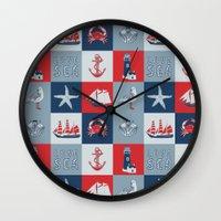 nautical Wall Clocks featuring Nautical by Julscela