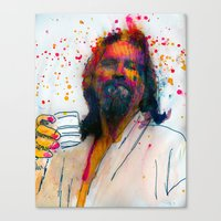 the dude Canvas Prints featuring dude by benjamin james