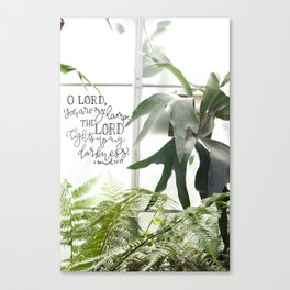 You are my Lamp     2 Samuel 22:29 Canvas Print