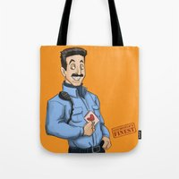 oitnb Tote Bags featuring Daya, Bennet, & Pornstache OITNB by StephDere