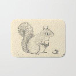 Monochrome Squirrel Bath Mat