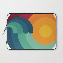 Surfer Ocean Surfing Wave Kitesurfing Sunset Wakeboard Diver Gift Laptop Sleeve
