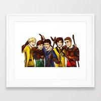 quidditch Framed Art Prints featuring Quidditch by Plebnut